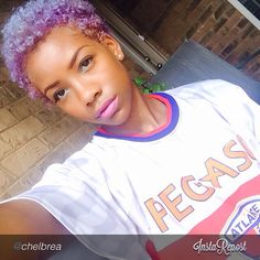 Natural Hair Lavender TWA