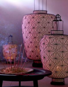 """Ideen für den asiatischen Einrichtungsstil: Laterne """"Shanghai Lilly"""" von…"""