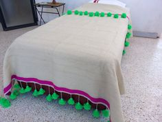 large Moroccan wool blankets woven by hand by MoroccanHandicrafts, $190.00