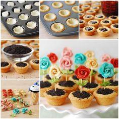 DIY Cute Flower Pot Cookies
