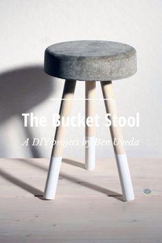 diy cement bucket stool