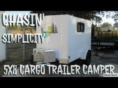 5x8 Trailer, Lawn Trailer, Bug Out Trailer, Enclosed Trailer Camper, Converted Cargo Trailer, Cargo Trailer Camper Conversion, Cargo Trailers, Camper Trailers, Travel Trailers