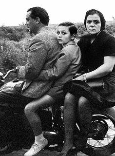 """Italian family on motorbike, Rome"" photo by American photographer WILLIAM KLEIN (born Photography Gallery, City Photography, Vintage Photography, People Photography, Robert Doisneau, Vintage Photos, Old Photos, Foto Vintage, 50s Vintage"