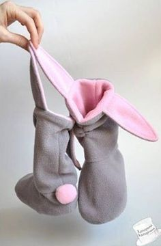 DIY Cute Bunny Slippers