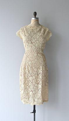 Lisieux dress vintage 1950s lace dress alencon by DearGolden