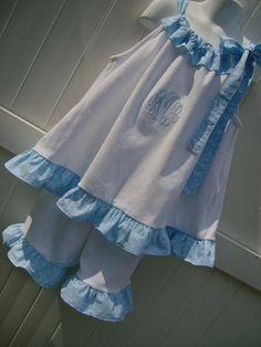 Cute pillowcase dress!!! Special detail ruffle along the front top casing!