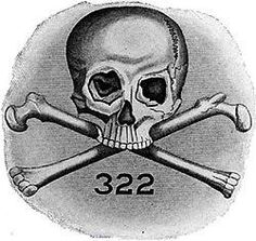 "Those that are aware of the occult elite's symbolism know that 322 is the ""sacred"" number of the Skull & Bones secret society (to which belong the likes of George W. Bush, George Bush Sr. and John Kerry).Official Skull and Bones logo prominently featuring the number 322."