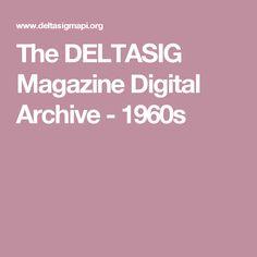 The DELTASIG Magazine Digital Archive - 1960s