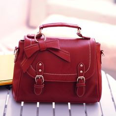Fashion Cute Bow Belt Shoulder Bag Shoulder Bags Preppy Style