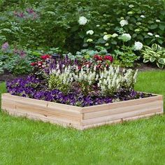 Create a lush outdoor oasis with this garden essential, perfect for enjoying the fragrance and beauty of flowers all summer long.Product: Garden bed    Construction Material: Cedar wood     Color: Brown   Features:  Efficient way to grow a beautiful healthy garden    Comes unfinished and ready to stain    Perfect gift for the avid gardener or one just learning to love gardening  Dimensions:   Panel: 9 H   Overall: 18 H x 48 W x 48 D