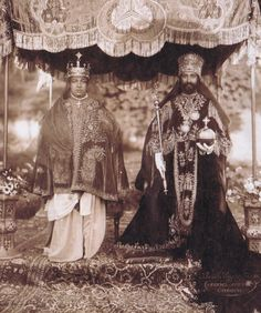 The Emperor Haile Selassie I of Ethiopia and the Empress