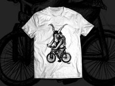 Silk Screen punk  bike goat 666