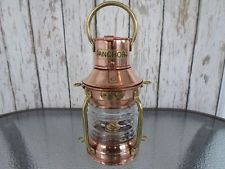 Brass & Copper Anchor Oil Lamp Nautical Maritime Ship Lantern Boat Light for sale online
