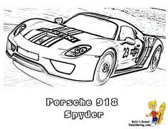 "Glorious Car Coloring! Porsche 918 Spyder! ""You're Foolin'?!"" No! http://www.yescoloring.com/car-coloring-pages.html?utm_content=buffer0fc49&utm_medium=social&utm_source=pinterest.com&utm_campaign=buffer"