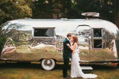 Vintage Airstream :: Susie at Chris & Sarah's wedding