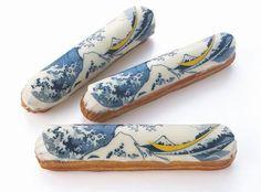 eclair with Hokusai design: FAUCHON in Japan