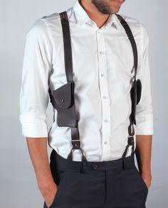 leather braces with pockets www.mayenne-nelen.com