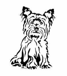 yorkie silhouette - Yahoo Image Search Results