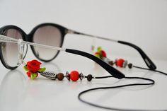RED DREAMLAND shadeloops // eyeglass chain eyeglass by shadeloops