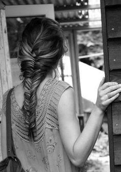 #Acconciature #capelli #treccia lisca di pesce