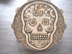 Sugar Skull Tambourine