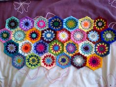 Ravelry: Project Gallery for Crochet starburst hexagon pattern by Jenni Ford