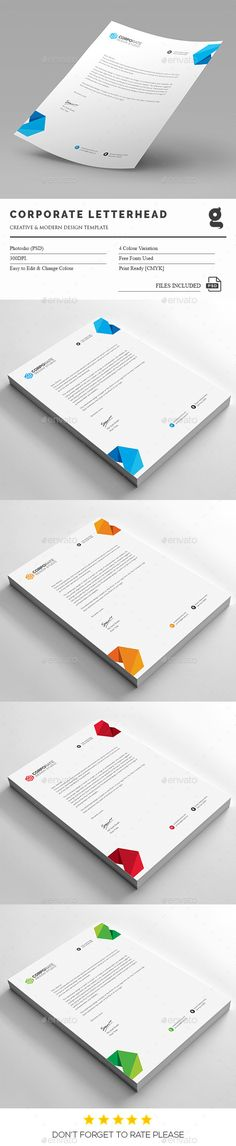 Letterhead and Design on Pinterest - letterhead templates download