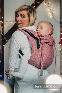 LENNY BUCKLE ONBU, STANDARD SIZE, JACQUARD WEAVE (100% COTTON) - WRAP CONVERSION FROM LITTLE LOVE - MAGICAL MOMENTS