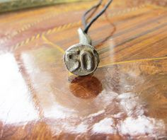 Antique Railroad Tie Date Nail Pendant - 50 - Year of Birth - Age - Lucky Number - Numerology by Gementia13Jewels, $75.00