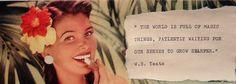 Vintage 1950s quote collage Tanya Tokarski La Luna crafts and curiosities