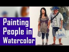 FREE Lesson. How to Paint in Watercolor of a Child or Kid by the Lake, time-lapse by C. Shellhammer - YouTube