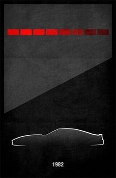 simple movie posters knight rider - Google Search