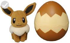 Takaratomy Pocket Monster T-02 Pokemon Eevee Egg Plush Doll - Fun stuff and gift ideas (*Amazon Partner-Link)