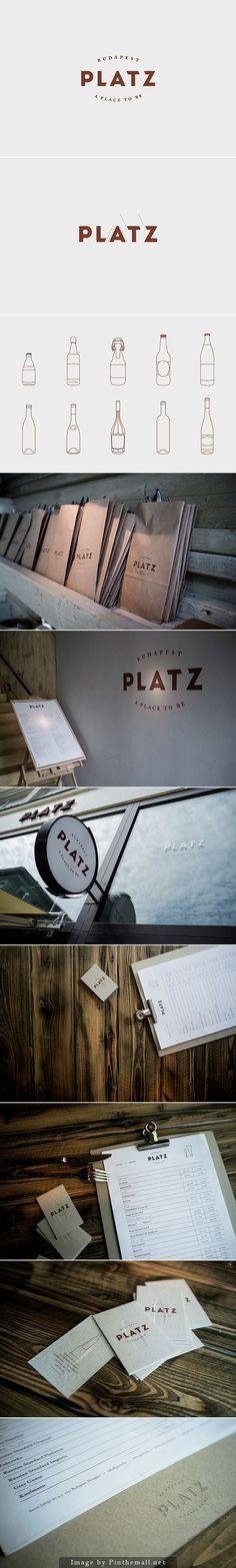 PLATZ - redesign of a restaurant & beerbar - Eszter Laki #branding #identity