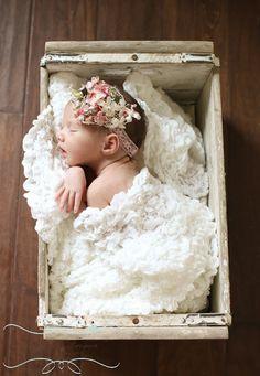 Newborn girl in the basket!  The Farmer's Nest: Photography