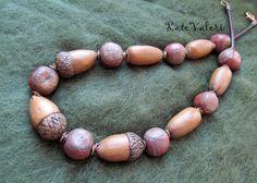 Katerina Valerievna - Acorn and hazelnut necklace