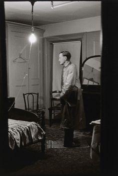 Diane Arbus, 1961 -The Backwards Man in his hotel room N.Y.C.