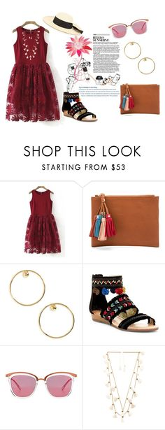 """Fun Red"" by nabilahnabill on Polyvore featuring WithChic, SANCIA, Biko, Carlos by Carlos Santana, Le Specs, Natalie B, G.Viteri, fashionset and polyvoreeditorial"