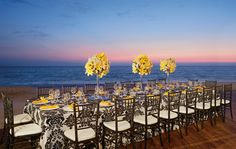 Stylish AMResorts All Inclusive Cancun Beach Deck Wedding Reception Decorations. Without the table cloth...