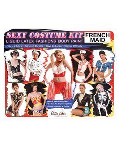 $58.76  Sexy costume kit - french maid liquid latex fashions body paint