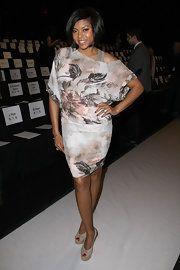 Taraji P. Henson Print Dress