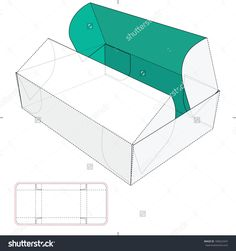Box With Double Door Lid And Die-Cut Pattern Stock Vector Illustration 180422447 : Shutterstock