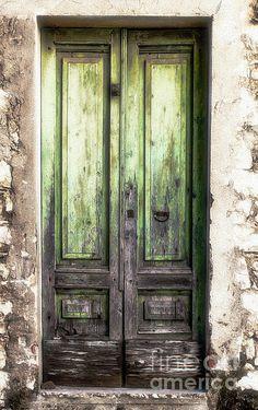 Wall Art - Photograph - Time Shared Stories by Phil Cappiali Jr Vintage Doors, Garden Doors, Wall Art For Sale, Architectural Features, Old Doors, Painted Doors, Door Knockers, Abandoned Houses, Doorway