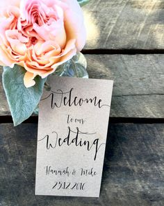 Welcome to our wedding tags, Welcome Tags, Wedding welcome tags, Wedding gift tags, Welcome to our wedding, Personalised Tags, Wedding Tags