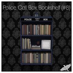 Alouette -  Police Call Box Bookshelf (#8) AD