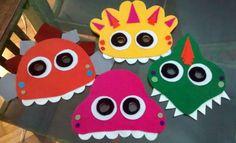 Máscara em feltro Dinossauros  R$16,00 cada