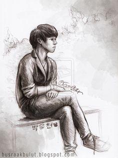 Park Yoochun fan art sketch by Büşra Akbulut  http://remstan.deviantart.com/art/Yoochun-489293068