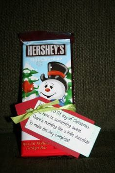 12 days of christmas... This is the best gift I've ever seen for teachers! Very thoughtful! Kids will love giving this!!