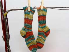 SALE TWO PAIRS knitting socks. Children Wool Socks by WoolSpring