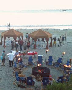 Clam bake on the beach. Avila Beach, CA